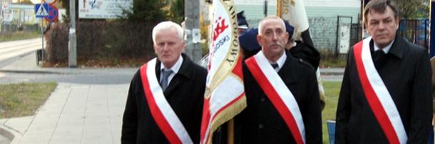 Poczet Sztandarowy Regionu podczas obchodów 29.rocznicy śmierci Bł.Ks.Jerzego,  Włocławek, 18 października 2013 rok