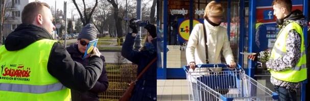 Akcja ulotkowa przed sklepami Lidla w całym kraju
