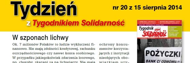 """""""Tydzień z Tygodnikiem Solidarność"""" nr 20"""