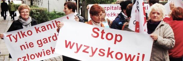 Protest pielęgniarek w Szczecinie, 26.09.2014 rok