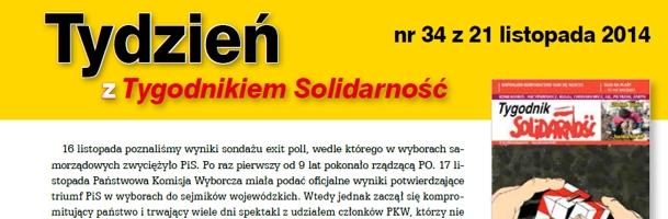 """""""Tydzień z Tygodnikiem Solidarność"""" nr 34"""