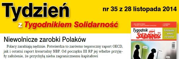 """""""Tydzień z Tygodnikiem Solidarność"""""""