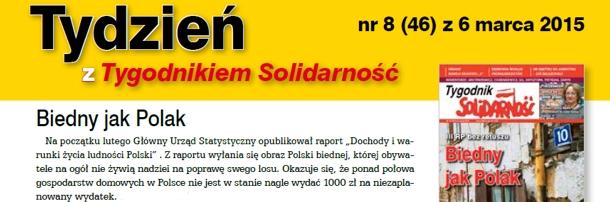 """""""Tydzień z Tygodnikiem Solidarność"""" nr8"""