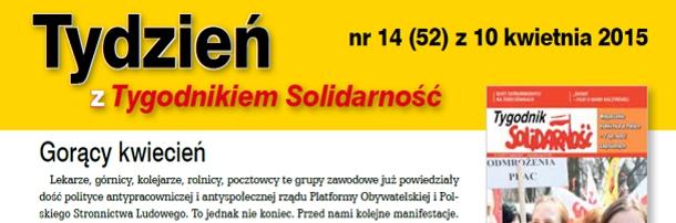 """""""Tydzień z Tygodnikiem Solidarność"""" nr 14"""