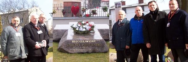 """Służba przy grobie Patrona """"Solidarności"""""""