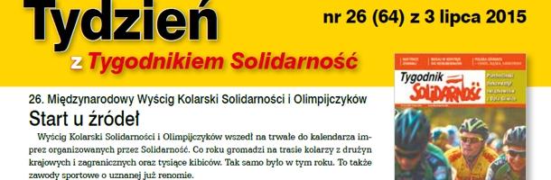 """""""Tydzień z Tygodnikiem Solidarność"""" nr 26"""