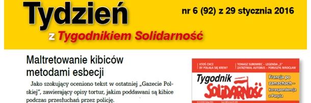 """W najnowszym """"Tygodniku Solidarność"""""""