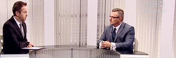 """""""Rozmowa dnia"""" w TVP Bydgoszcz z udziałem wiceszefa Regionu"""