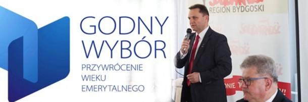 """Kampania """"Godny wybór. Przywrócenie wieku emerytalnego"""", 19.05.2017"""