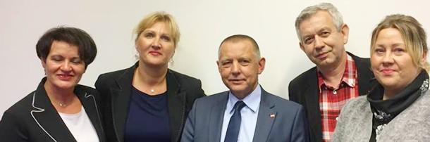 Spotkanie związkowców z Ministrem Banasiem