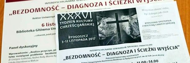 """Seminarium """"Bezdomność – diagnoza i ścieżki wyjścia"""", 6.11.2017 r."""