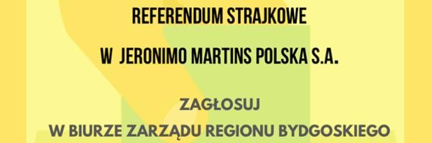Referendum strajkowe w Jeronimo Martins Polska S.A. - głosowanie w Bydgoszczy